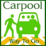 carpool långt Royaltyfri Fotografi