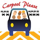 Carpool please traffic is jamming Stock Images