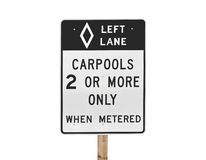 Carpool Sign Isolated Royalty Free Stock Images
