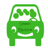 Carpool vert de machine illustration stock