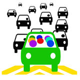 Carpoolbesparingen Royalty-vrije Stock Foto's