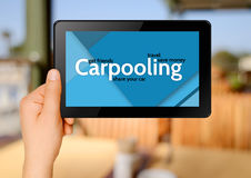 Carpooling internet concept Royalty Free Stock Image