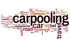 Carpooling word cloud Royalty Free Stock Photography
