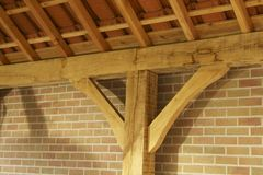 Carport detail construction Royalty Free Stock Photo