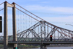The Carquinez Bridge in Northern California Royalty Free Stock Images
