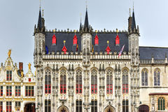 Carré Burg hôtel de ville - Bruges, Belgique photos stock