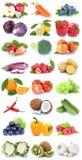 Carr кивиа яблока фруктов и овощей изолированное собранием оранжевое Стоковые Фотографии RF
