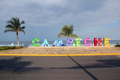 Carr. Costera del Golfo in Campeche, Mexico Royalty Free Stock Photo