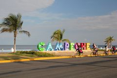 Carr. Costera del Golfo in Campeche, Mexico stock images
