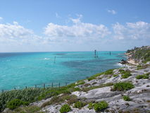 Carrabean Ocean. This is a view of the Carrabean Ocean from isla mujeres,Mexico Stock Photo