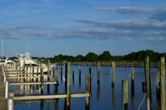 Carrabelle River At Moorings Docks Stock Photo