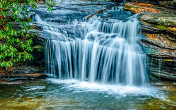 Carrack Creek Waterfall. Waterfall along Carreck Creek located in the Table Rock Mountain State Park, South Carolina Royalty Free Stock Images
