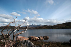 Carragh view 1. A view fom the shore of carragh lake in county kerry in ireland stock photos