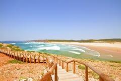 Carrapateira beach in Portugal. Carrapateira beach in the Algarve in Portugal Stock Image