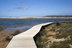 carrapateira bordeira пляжа около Португалии Стоковое Изображение