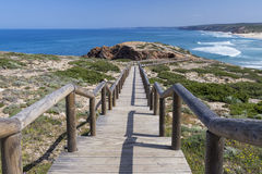 Carrapateira plaża, Portugalia Zdjęcie Royalty Free