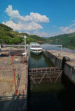 Carrapatelo dam, Douro region, Stock Photos