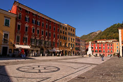 Carrara. Piazza Alberica view in the historic center of Carrara, Tuscany, Italy Royalty Free Stock Photography