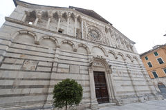 Carrara, cathedral Stock Image