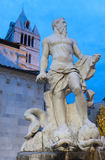 Carrara, cathedral and statue Royalty Free Stock Photo