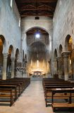 Carrara duomo interior. Interior of the 13th century duomo in Carrara, Italy royalty free stock photos