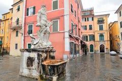 Carrara, Italy. Old Town in the region of Tuscany stock photos