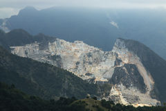 Carrara Marble cave mountain in Tuscany Royalty Free Stock Photography