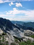 Carrara marble mine. Marble mines in the Apuan Alps above Carrara, Italy stock photography