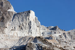 Carrara marble mountains Royalty Free Stock Images