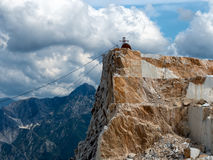 Carrara marble quarries detail Royalty Free Stock Images