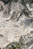 Carrara Marble quarries. Mountain landscape with statutario quality quarry. From this site Michelangelo got his marble Royalty Free Stock Photo