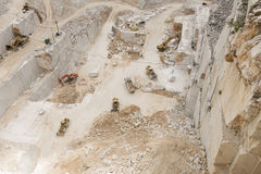 Carrara Marble quarries. Overview of  aCarrara Marble quarrie Stock Image