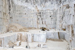 Carrara Marble quarries. Overview of a Carrara marble Quarry Royalty Free Stock Photo