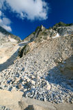 Carrara marble quarry. White marble quarry of Carrara in Tuscany, Italy stock images