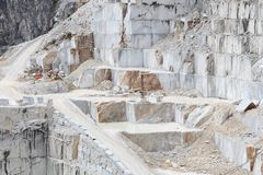 Carrara marble quarry Stock Image