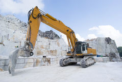 A Carrara marble quarry Stock Photo