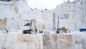 A Carrara marble quarry Royalty Free Stock Photos
