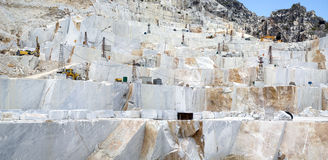 A Carrara marble quarry Royalty Free Stock Photo