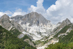 Carrara marble quarry, Tuscany, Italy Stock Image