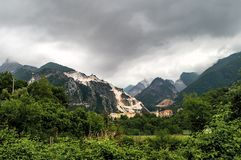 Carrara-marble quarrying Royalty Free Stock Photos