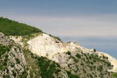 Carrara  marble stone pit Royalty Free Stock Image