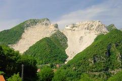 Carrara  marble stone pit Royalty Free Stock Photos