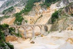 Carrara marble stone pit Stock Image