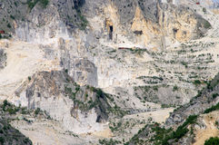 Carrara marble stone pit Stock Images