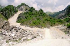 Carrara  marble stone pit Stock Photos