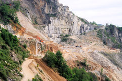Carrara  marble stone pit Royalty Free Stock Photo