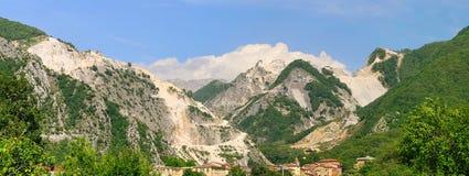 Carrara  marble stone pit Royalty Free Stock Photo
