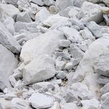 Carrara marble stone pit royalty free stock photography
