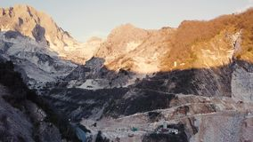 Carrara-Marmorberge stock video footage