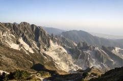 Carrara, minas de mármol blancas Foto de archivo libre de regalías